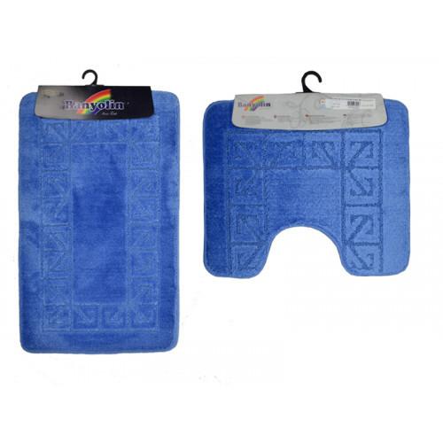 Коврик Banyolin 60*100 см Классик Голубой 2 предмета