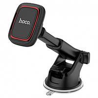 Автодержатель магнитный автомобильный держатель для телефона смартфона Hoco CA42 Черно - красный