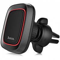 Автодержатель автомобильный держатель для телефона на дефлектор HOCO CA23 черный