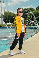 Спортивный детский костюм для мальчика желтый с черным Adidas Адидас