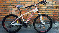 """Велосипед CAMARO Onix 26"""" белый с оранжевым рама 13,5"""""""