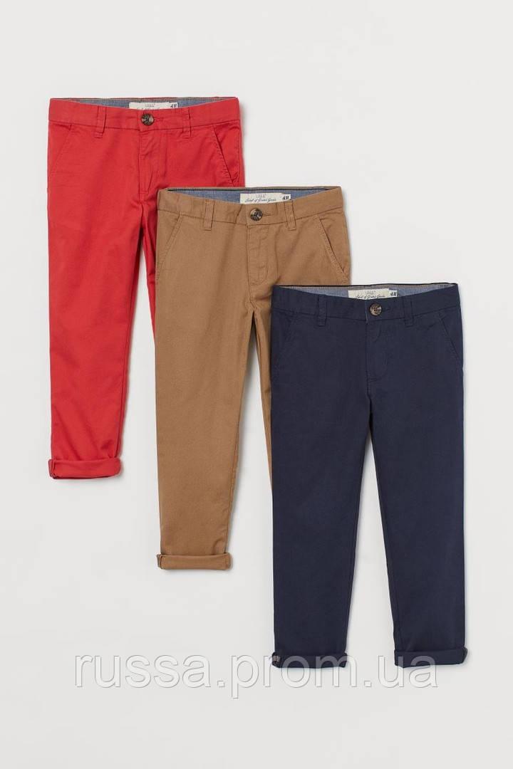 Классные детские брюки в стиле чинос с отворотами на штанинах для мальчика HM (поштучно)