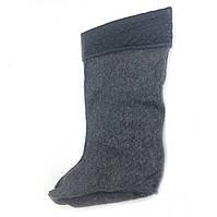 Вставка утеплитель носок в резиновые сапоги женские, серый с манжетом