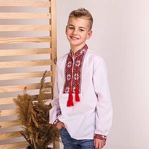 Вышиванка детская с красной вышивкой Дмитрик