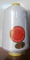 Нить оверлочная 150den белая 500гр(Китай)