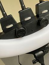 Кільцева люмінесцентна лампа ZB-F348 45 см з пультом і 3 власниками без штатива, фото 3