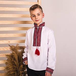 Подростковая вышиванка Иван с красной нашивкой