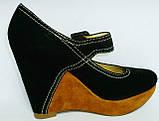 Туфли замшевые женские на танкетке Welfare 1410801, фото 5