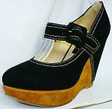 Туфли замшевые женские на танкетке Welfare 1410801, фото 4