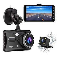 Автомобильный видеорегистратор с двумя камерами, 4 дюйма1080p BТ100