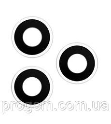 Стекло камеры iPhone 11 Pro / iPhone 11 Pro Max (комплект 3шт.) Silver