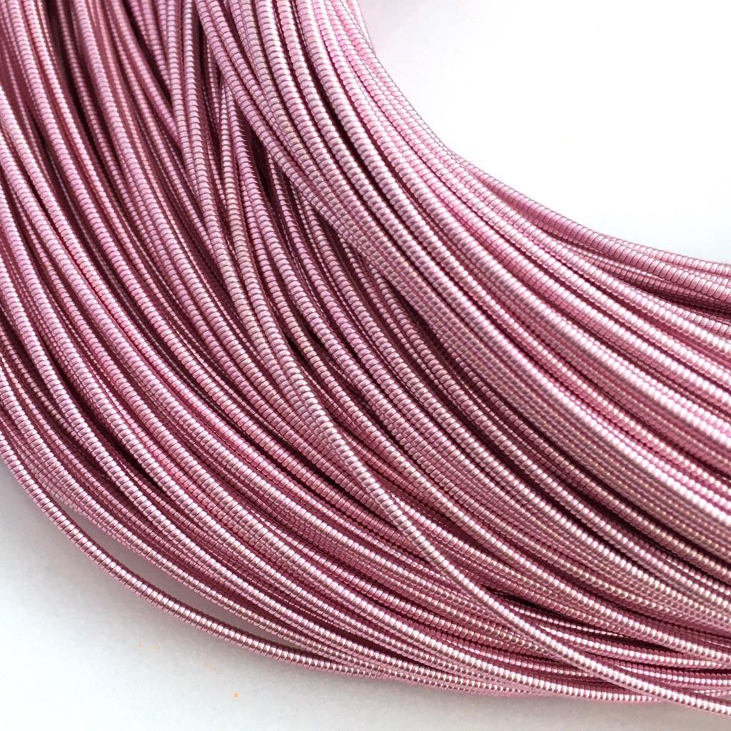 Жорстка канитель 1.25 мм. Рожевий. Ціна за 50 см