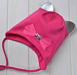 Шапка с кошачьими ушками для девочки Разные цвета 48, 52 52 см., Разные цвета, фото 4