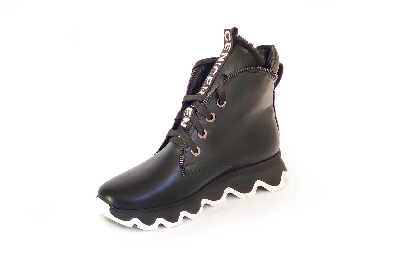 Ботинки LikeStar Радмила-1\ размер 36-41\ натуральная кожа\ черный цвет. ( Женские ботинки ).
