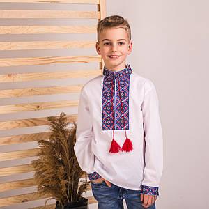 Подростковая вышиванка Колорит с синей вышивкой