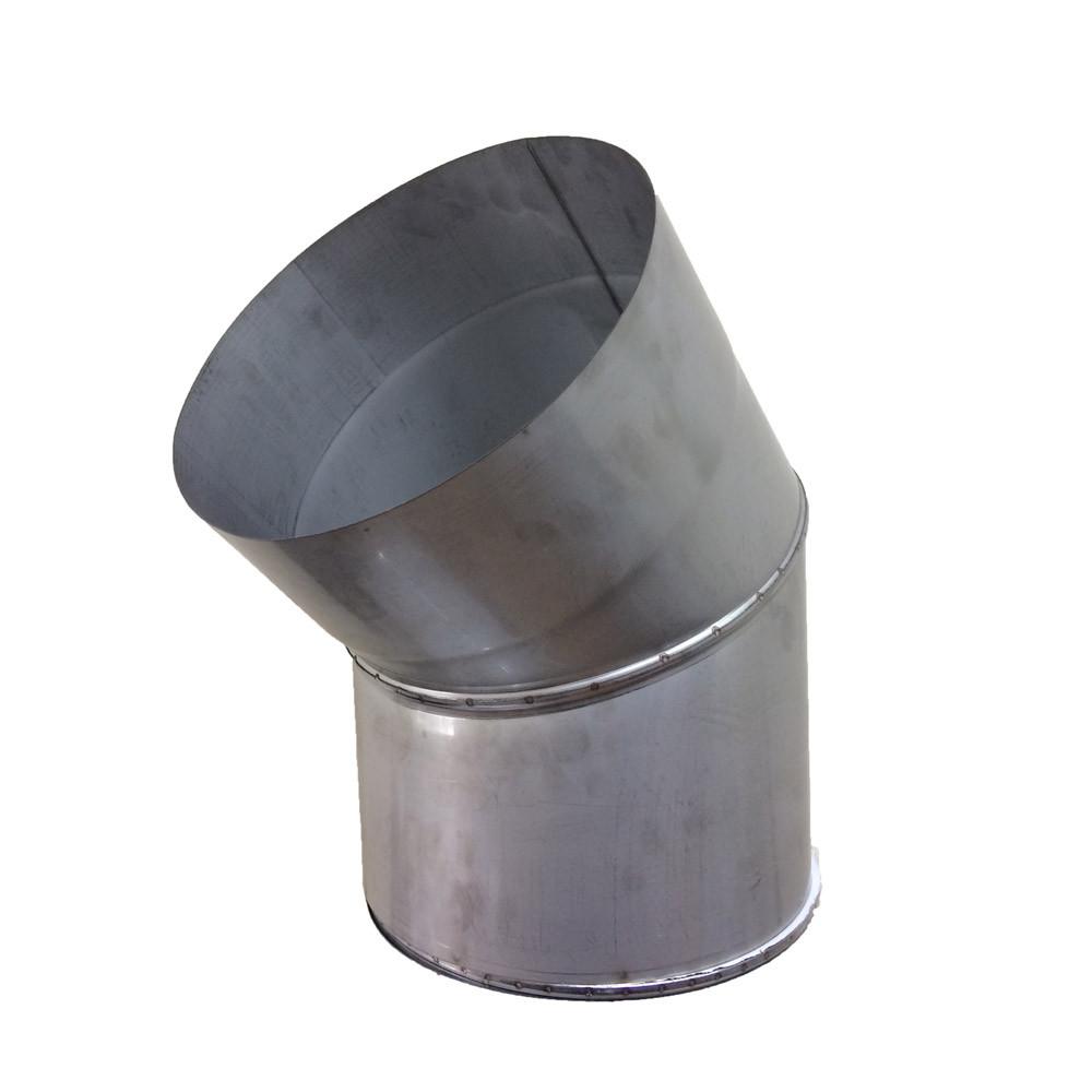 Відведення 45° для димоходу D-160 мм товщина 0,8 мм