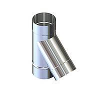 Тройник 45° для дымохода D-100 мм толщина 0,6 мм