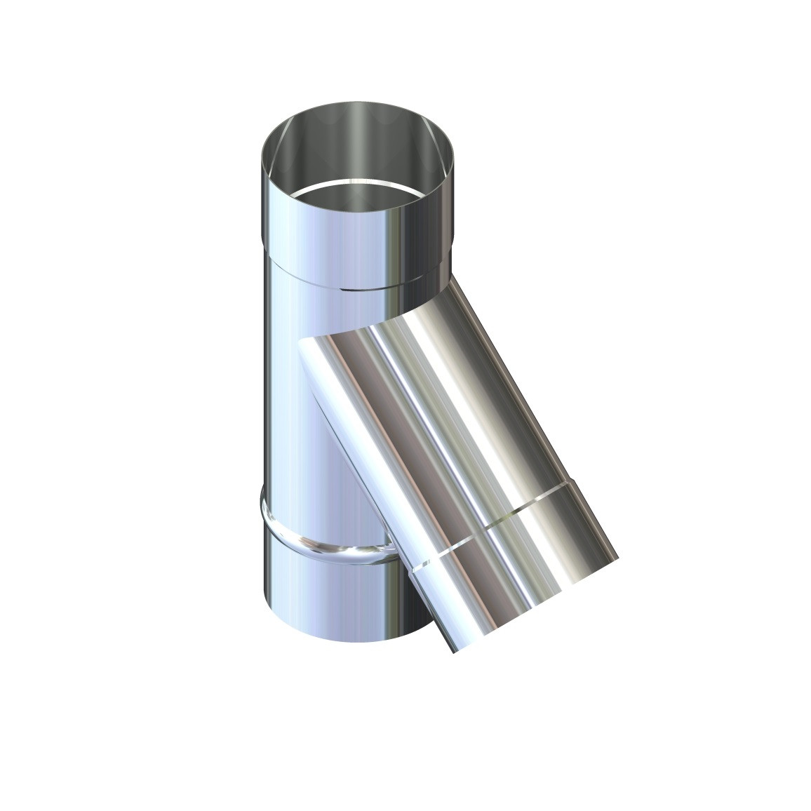 Тройник 45° для дымохода D-120 мм толщина 0,6 мм