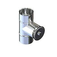 Ревізія димохідна нержавійка D-130 мм товщина 0,6 мм