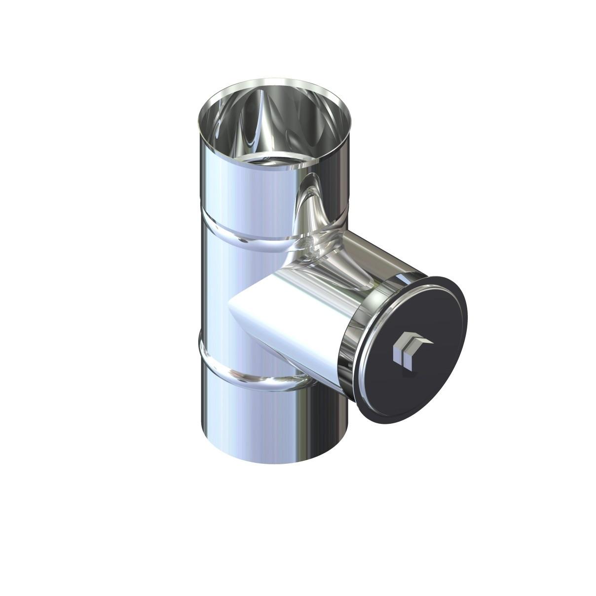 Ревизия дымоходная нержавейка D-180 мм толщина 0,8 мм