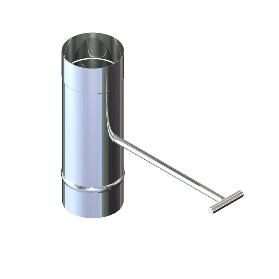 Регулятор тяги для димоходу нержавіюча сталь D-140 мм товщина 0,6 мм