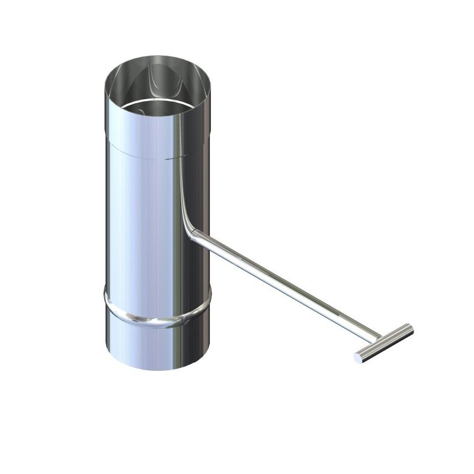 Регулятор тяги для димоходу нержавіюча сталь D-130 мм товщина 0,8 мм