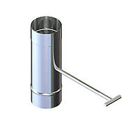 Регулятор тяги для дымохода нержавейка D-250 мм толщина 1 мм, фото 1