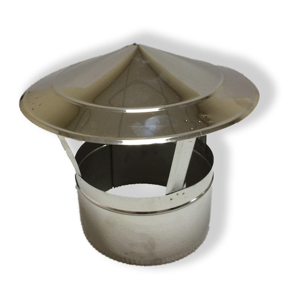 Грибок для дымохода нержавейка D-120 мм толщина 1 мм