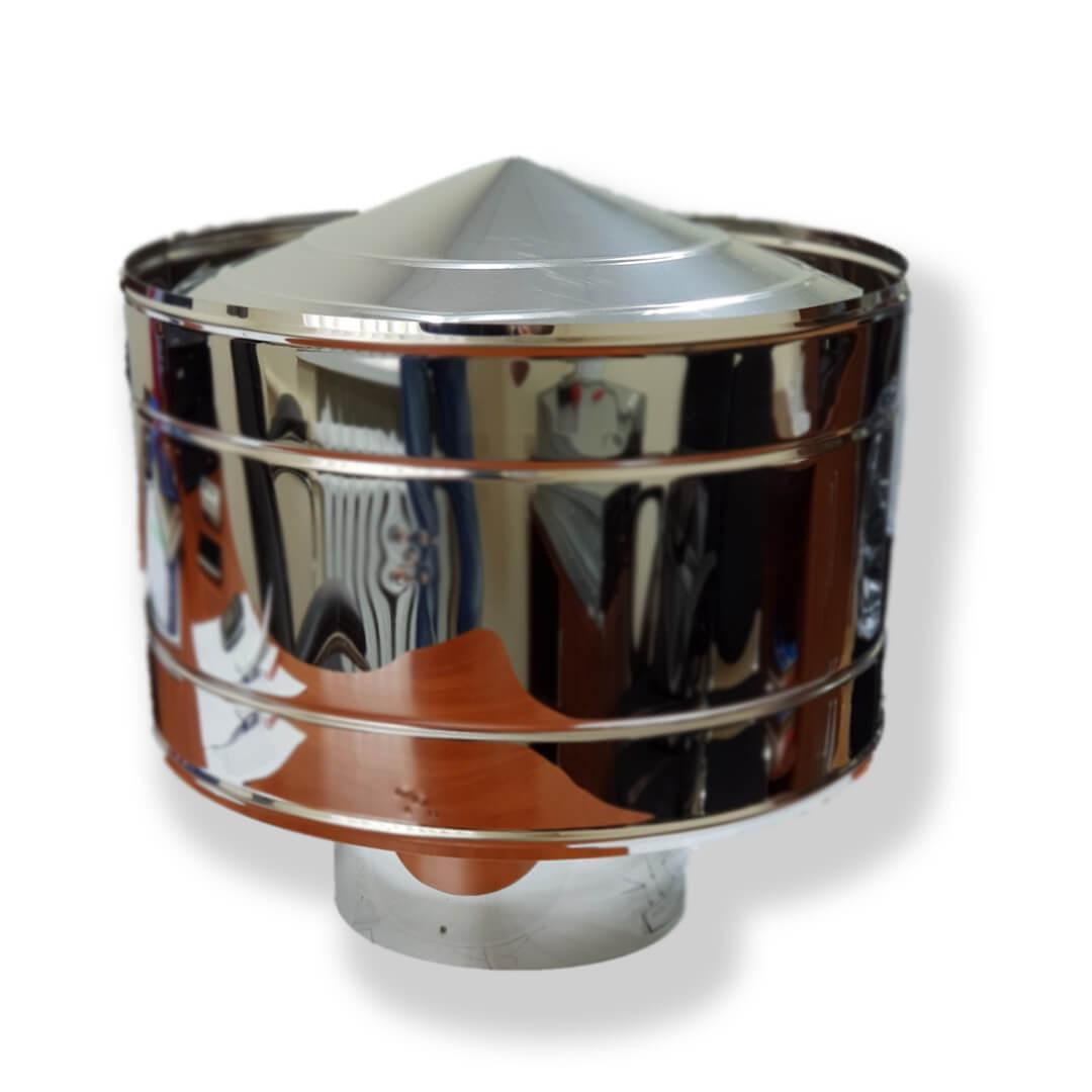 Волпер для димоходу нержавіюча сталь D-160 мм товщина 0,6 мм