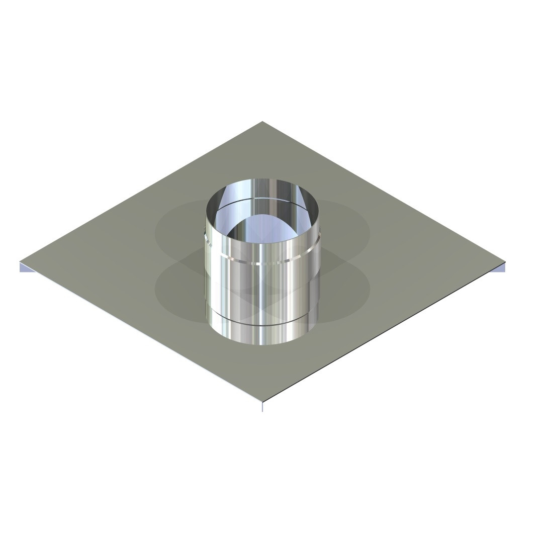 Закінчення для димоходу нержавіюча сталь D-110 мм товщина 0,6 мм
