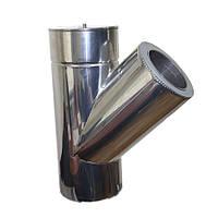 Трійник 45° для димоходу ø 350/420 н/н 0,8 мм