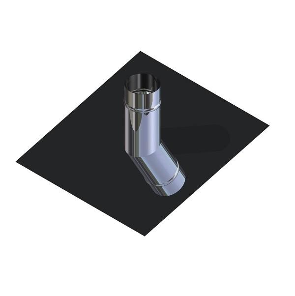Криза для димоходу нержавіюча сталь D-130 мм товщина 0,6 мм