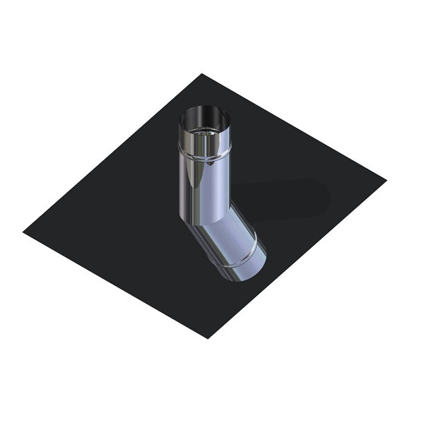 Криза для димоходу нержавіюча сталь D-140 мм товщина 0,6 мм