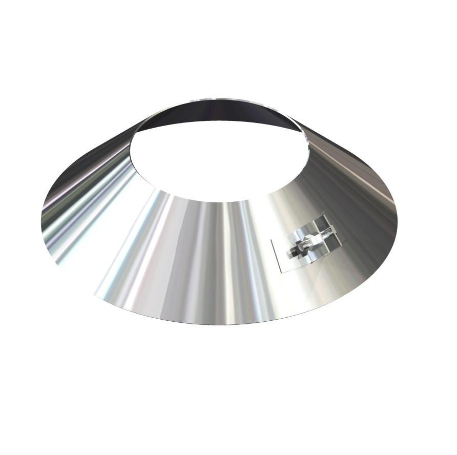 Окапник для димоходу нержавіюча сталь D-250 мм товщина 0,6 мм