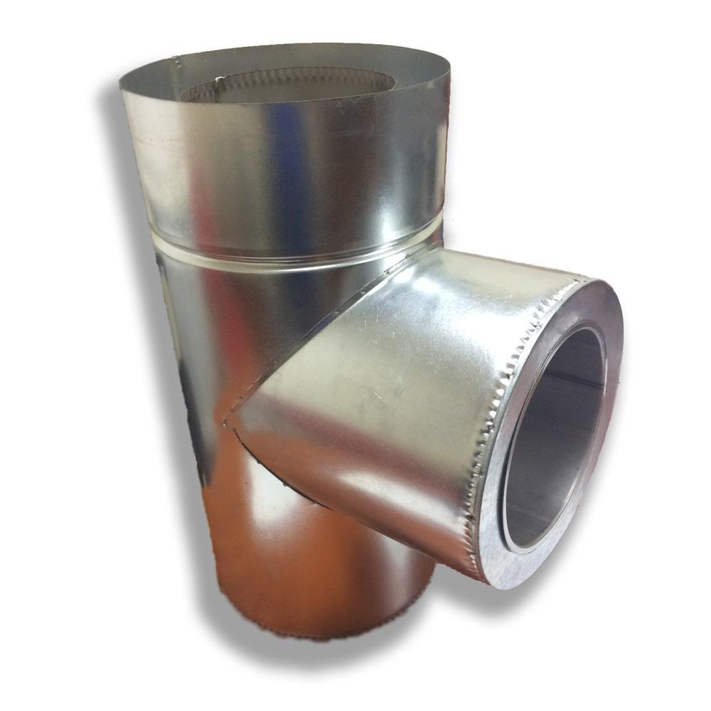 Трійник 87° для димоходу ø 130/200 н/оц 0,6 мм