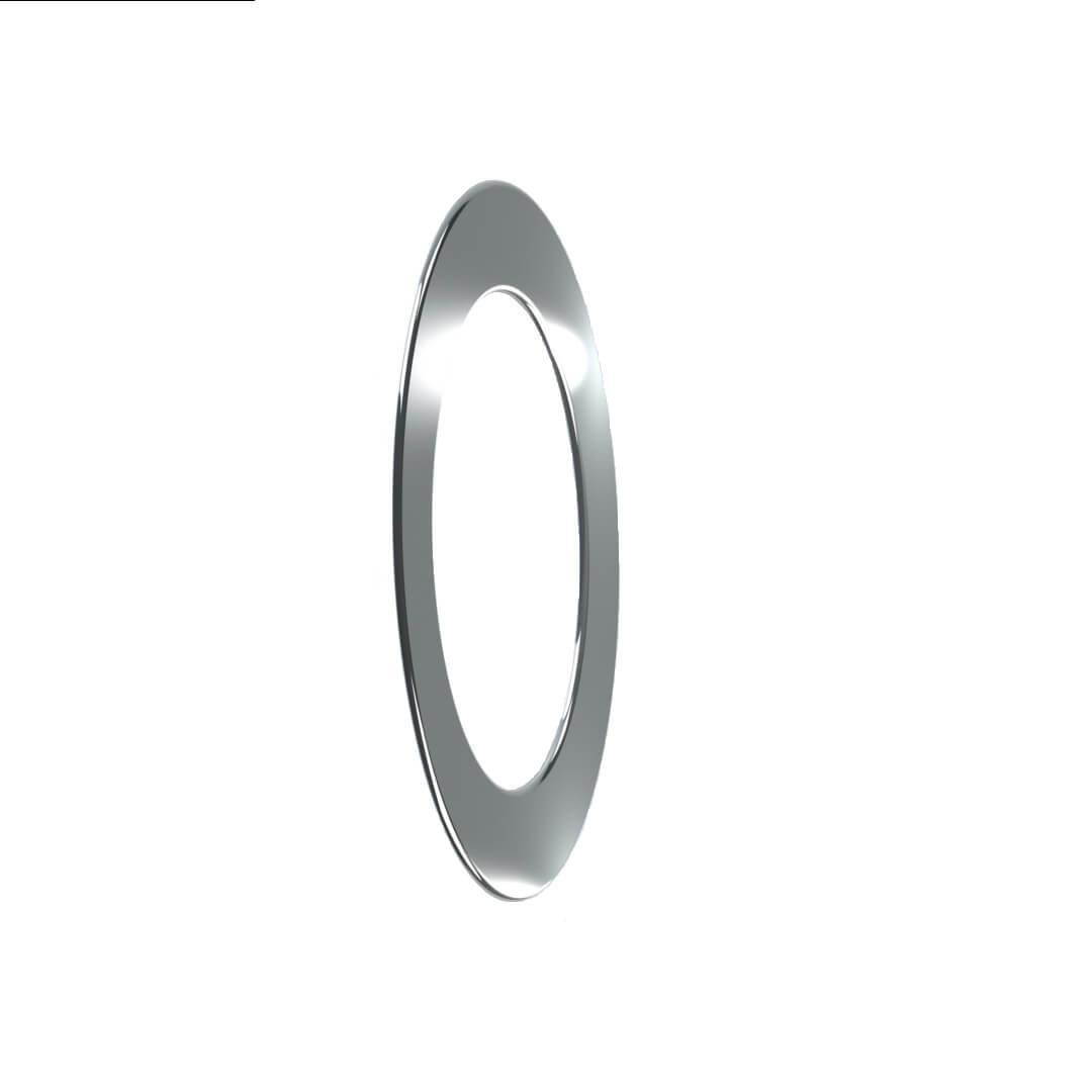 Розетта для димоходу нержавіюча сталь D-140 мм товщина 0,6 мм