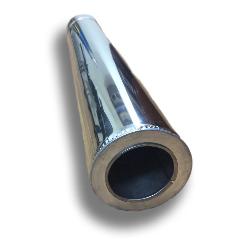 Труба для дымохода двустенная из нержавейки 1 м ø 230/300 н/н 1 мм