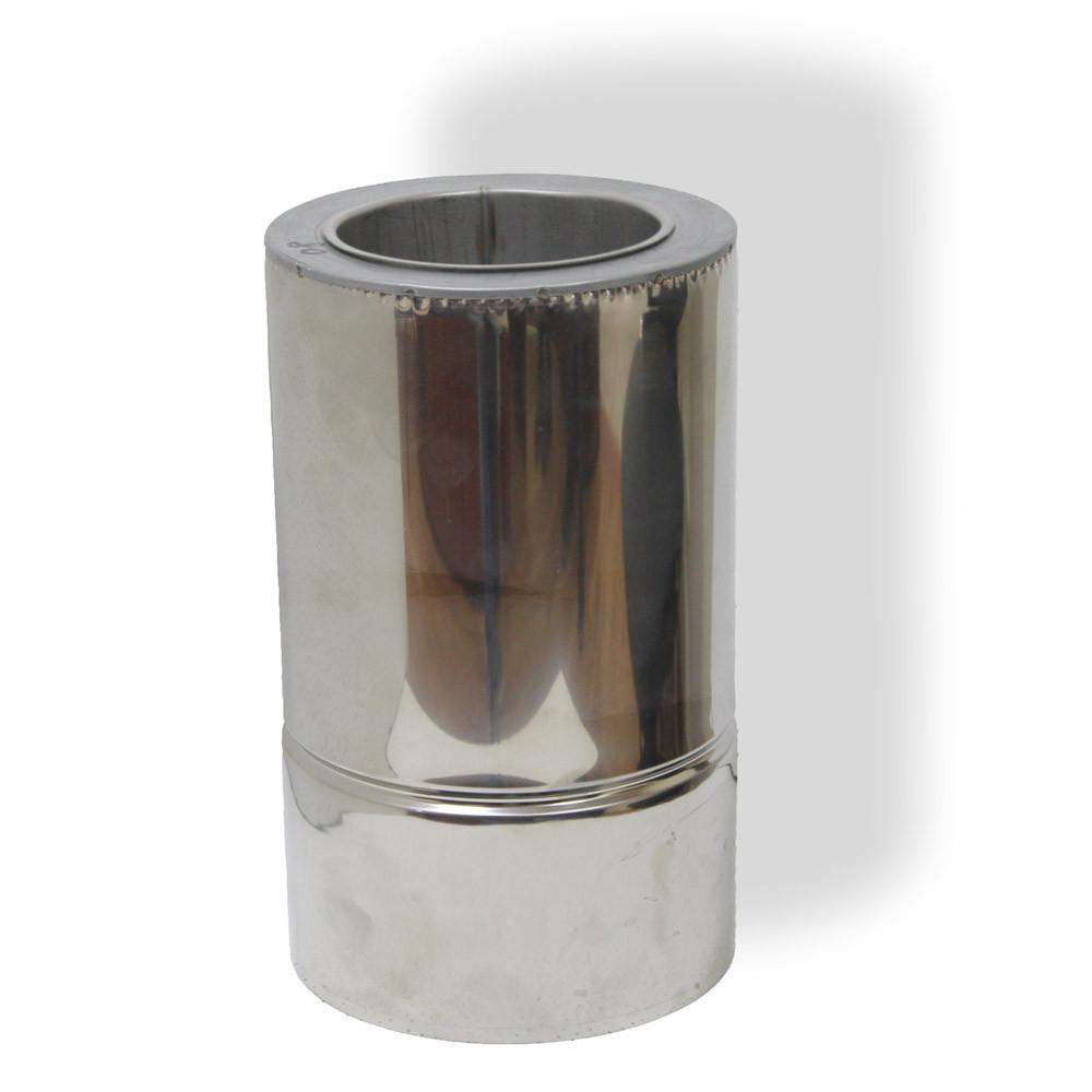 Труба димохідна нерж/нерж сендвіч 0,3 м ø 120/180 н/н 0,8 мм