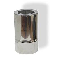 Труба дымоходная нерж/нерж сендвич 0,3 м ø 130/200 н/н 0,8 мм