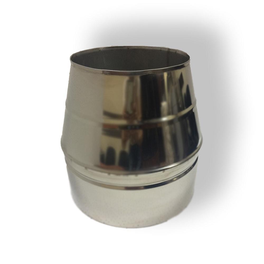 Конус дымоходный ø 100/160 нерж/нерж 0,6 мм