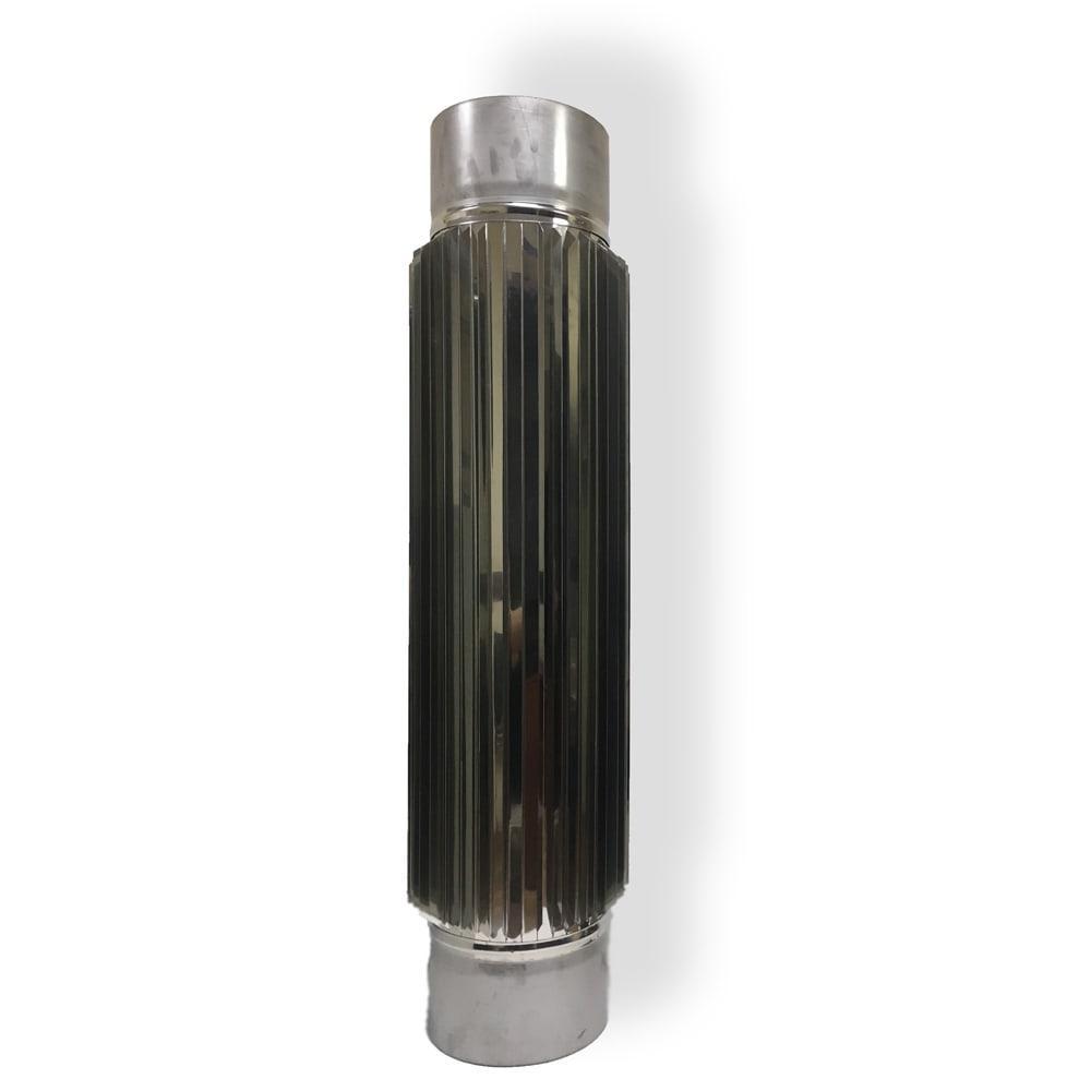 Радиатор для дымохода 1 м D 130 мм толщина 0,8 мм
