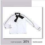 Белая школьная блузка с бантом Моне р-ры 152,164, фото 3