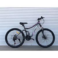 """Велосипед спортивный двухподвесной TopRider-920 26"""" розовый, фото 1"""