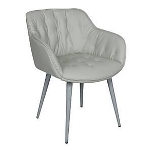 Обеденное кресло VIENA (Виена) светло- серое от Nicolas, экокожа