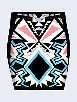 Женская  Юбка Рисунок ацтеков