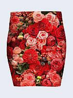 Женская  Юбка Цветы