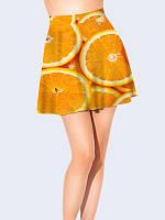 Женская  Юбка-клеш Апельсин