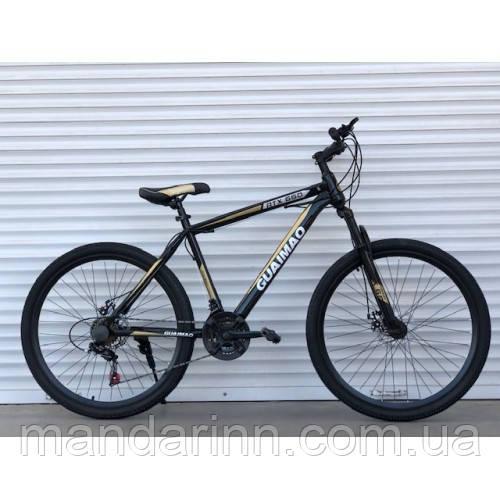 """Спортивный велосипед  TopRider-275  """"27,5  Серый, Шимано Диск тормоза."""