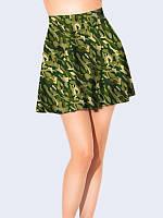 Женская  Юбка-клеш Зеленая маскировка