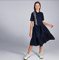 Школьное платье с оборками тм МONE р-р 146,164